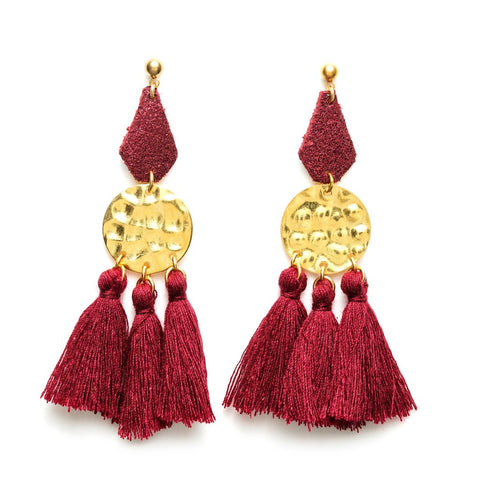 Charly James - Boucles d'oreilles - Jeanne Rouge