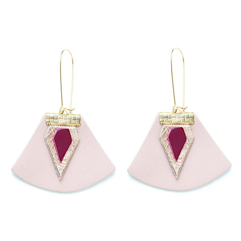 Charly James - Boucles d'oreilles - Nadja Beige rosé