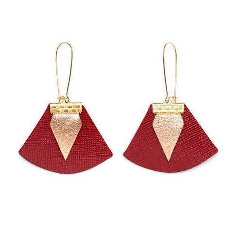 Charly James - Boucles d'oreilles - Chloé rouge - made in france