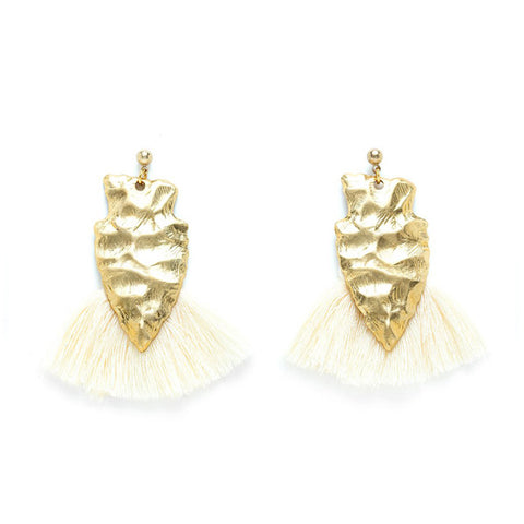Charly James - Boucles d'oreilles - Alice Crème - made in france