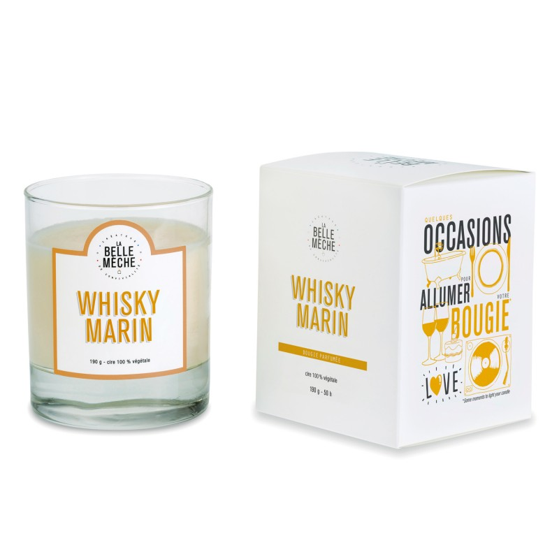 Bougie La belle mèche - Whisky Marin - made in france