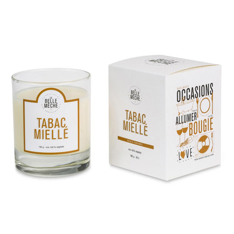 Bougie La belle mèche - Tabac Miellé - made in france