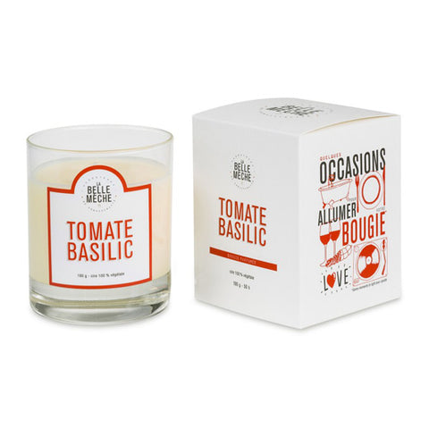 Bougie La belle mèche - Tomates Basilic - made in france