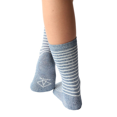 Arsène - Chaussettes Maya Bleue 36-41 - made in france