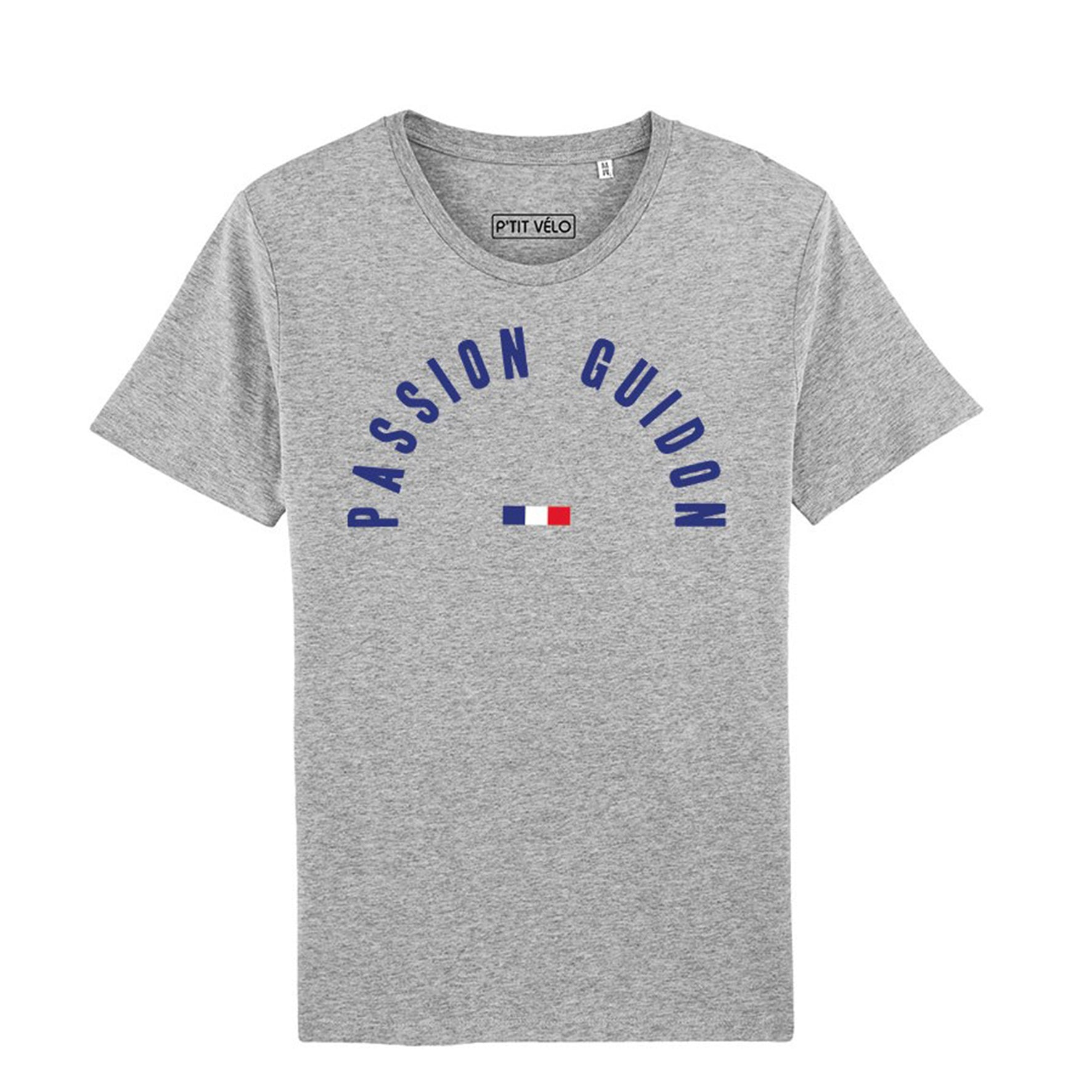 P'tit Vélo - T-shirt Passion Guidon - Gris Chiné