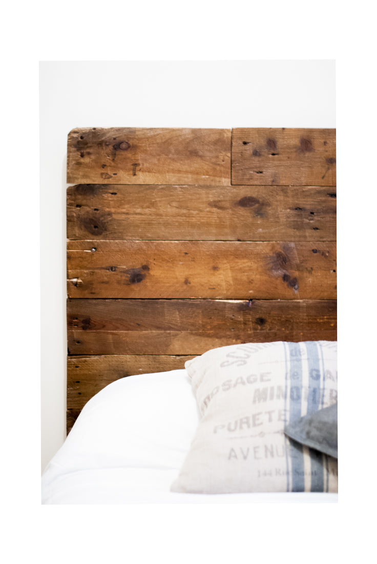 Recycled Wood Headboard Mulet
