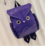 PU Leather Owl Backpack