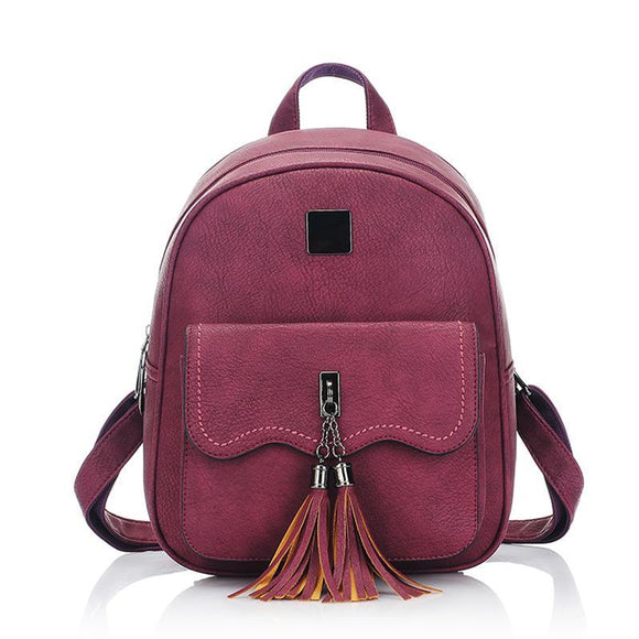 Top Quality Stylish Teenage Ladies Bags Leather Backpack