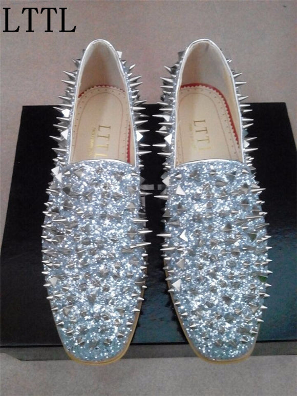 Glitter Rubber Spikes Shoes