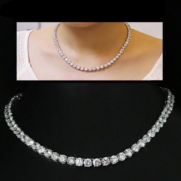Round Crystal Women's Choker Necklace