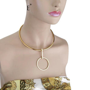 Double Loop Stylish Choker Necklace