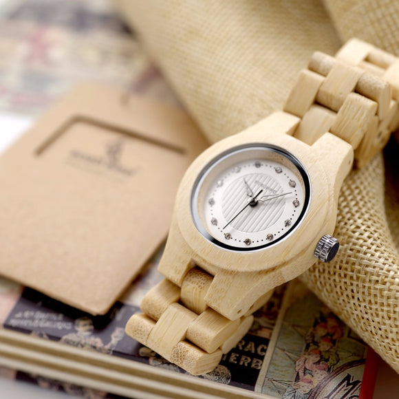 Natural Bamboo Quartz Watches