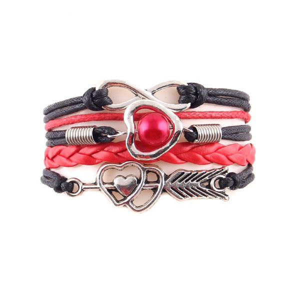 Double Heart Infinity Ladies Bracelet - FREE ITEM!