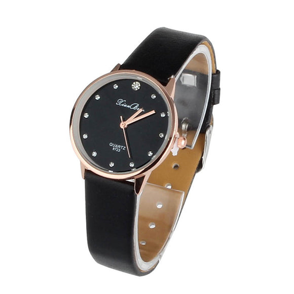 Luxury Casual Fashion Women Rhinestone Quartz Wrist Watch