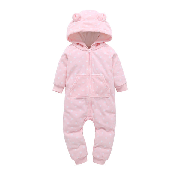 Cotton Hooded Baby Rompers