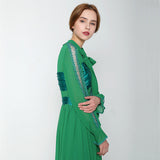 Green Chiffon Patchwork  Clothes