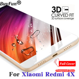 For Xiaomi Redmi 4X Glass Tempered cover prime Screen Protector 9 H For Redmi 4x glass Clear Phone Xiomi Redmi 4X 5.0 Film 2pcs