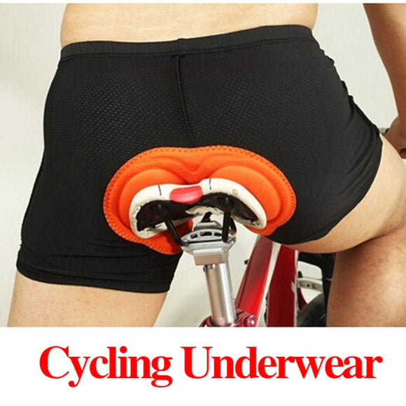 Black Padded Cycling Underwear