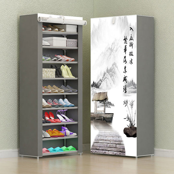 Combination Shoe Rack Storage Cabinet