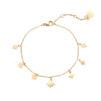 Yehwang enkelbandje morning star goud 0232926-108