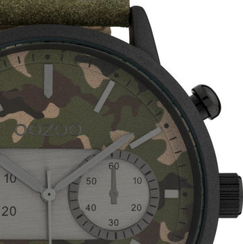 Oozoo Heren Horloge-C10068 Army groen (51mm)