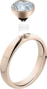 MelanO Twisted Tracey ring 5010 stainless steel goud (48-60MM)