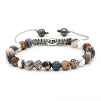 Karma dames armband Spiral Blueberry Bakery XS (grey crystal)