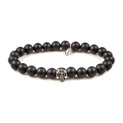Karma heren armband Black is Black Skull 86011