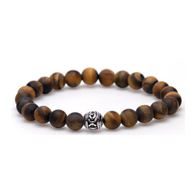 Karma heren armband Tiger Without Fear Silver 86430