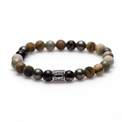 Karma dames armband Wilde West Silver Bead 86528