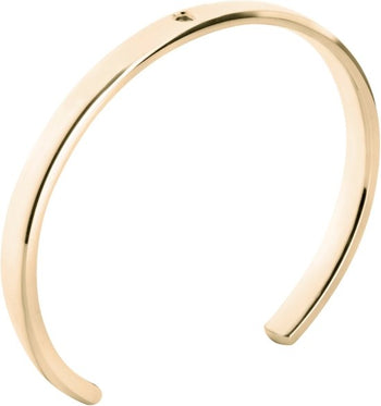 MelanO Twisted armband Tyra 5002 stainless steel goud