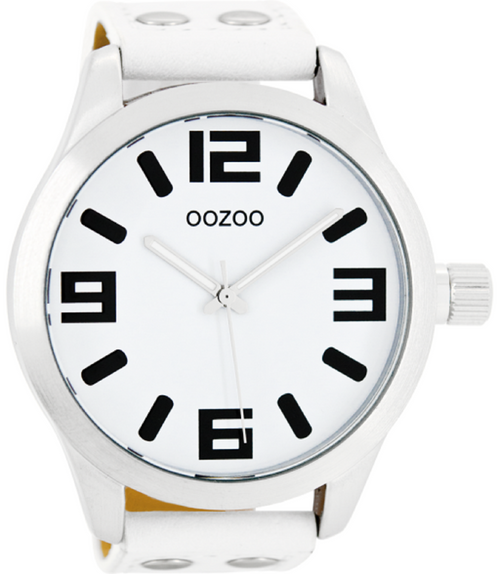 Oozoo Heren/dames Horloge-C1000 wit (51mm)