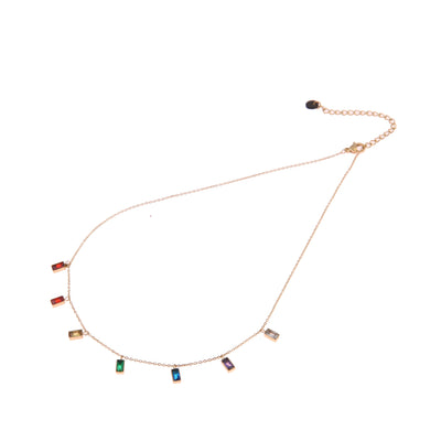 GO Dutch Label Ketting multi stone drops N0425-2 Goud