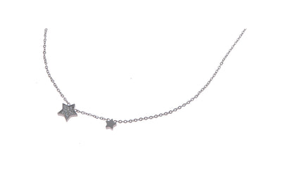 GO Dutch Label ketting 2 stars N0761 in het goud of zilver