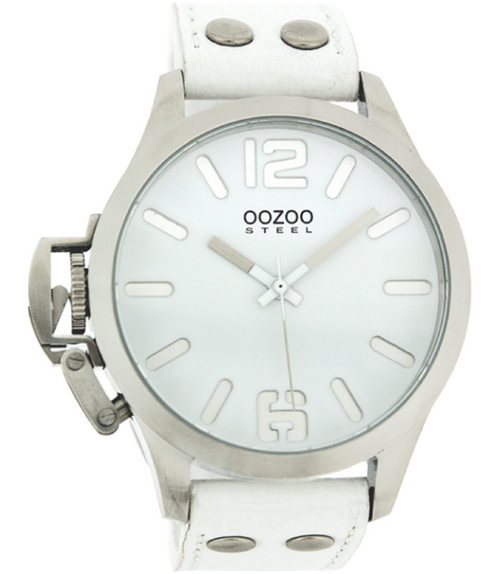 Oozoo Steel Horloge wit-OS050 (46mm)
