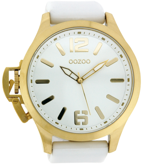 Oozoo Steel Horloge wit-OS269 (51mm)