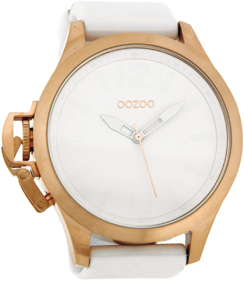 Oozoo Steel Horloge wit-OS271 (51mm)