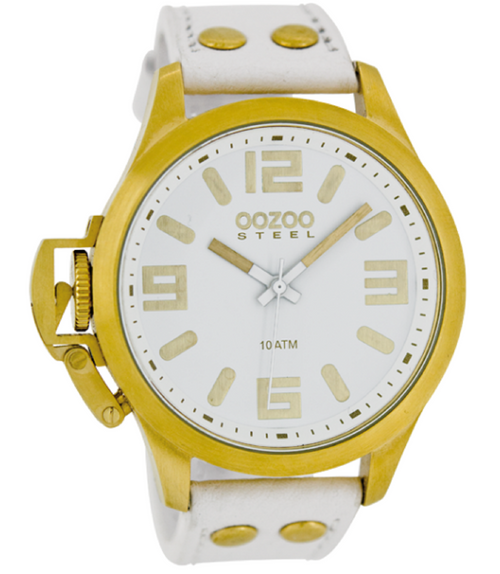 Oozoo Steel Horloge wit-OS352 (46mm)