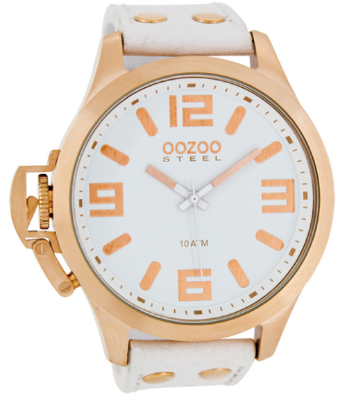 Oozoo Steel Horloge wit-OS353 (51mm)