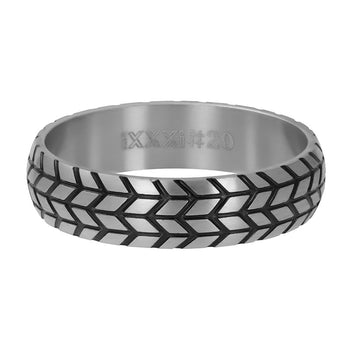 iXXXi invulring heren Tire R09501 Zilver (6MM)