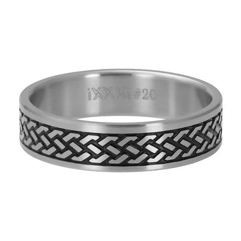 iXXXi invulring heren Tribal R09604 Zilver (6MM)