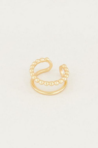 My Jewellery Ear cuff dubbele ring goud of zilver (10mm)