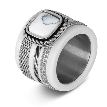 iXXXi invulring Summer White R05919 Goud, Zilver of Rosé (2MM)
