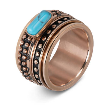 iXXXi invulring Festival Turquoise R05915 Goud, Zilver of Rosé (2MM)