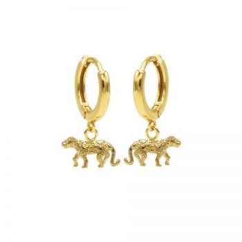 Karma hinged hoops symbool leopard 3 gold M1389HIN