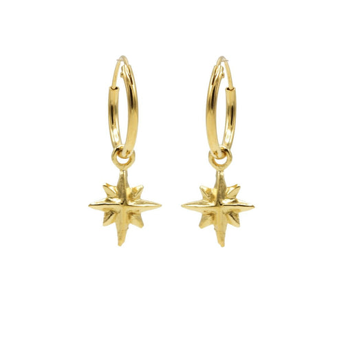 Karma-symbols-oorbel-m1936-morningstar goud