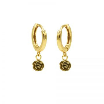 Karma hinged hoops symbool rose M3012HIN goud