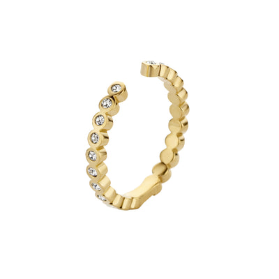 Melano Twisted ring Tina CZ 5191 Goud
