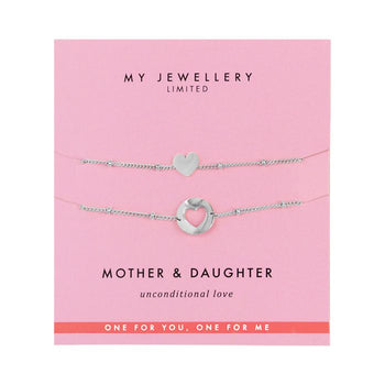 My Jewellery Mother & Daughter armband Heart goud of zilver