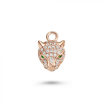Mi Moneda-MMM CHARM LEOPARD 925 SILVER ROSEGOLD PLATED